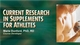 Current Research in Supplements for Athletes Course-NT Cover