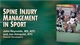 Spine Injury Management in Sport Course-T Cover