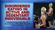 Disordered Eating in Active and Sedentary Individuals Course-T