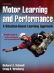 Motor Learning and Performance With Web Study Guide-4th Edition Cover