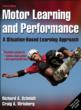 Motor Learning and Performance 4th Edition eBook With Web Study Guide Cover