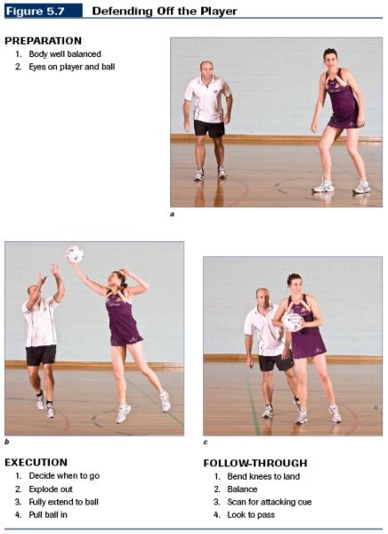 Defending in netball is a challenge