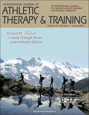International Journal of Athletic Therapy & Training Online and Print Subscription