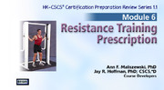 NSCA: CSCS ORS: Module 6 - Resistance Training Prescription, Version 1.1-NT