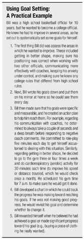 Using Goal Setting