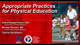 Appropriate Practices for Physical Education Course, Version 1.1-T Cover