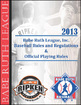 BRL 2013 Baseball Rules and Regulations eBook Cover