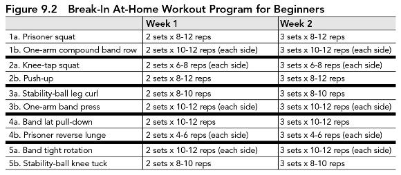 Break In Workout Programs For Beginners