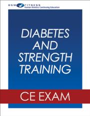 Diabetes and Strength Training Webinar CE Exam