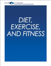 Diet, Exercise and Fitness Online CE Course-8th Edition