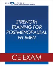 Strength Training Postmenopausal Women Webinar CE Exam