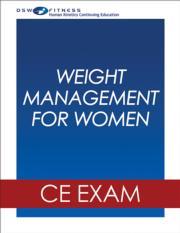 Weight Management for Women Webinar CE Exam