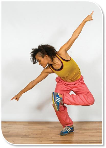 In street dance, the head and torso are often in a different orientation to gravity than typical walking, and the dancers must rely more on somatosensory feedback than on vision.