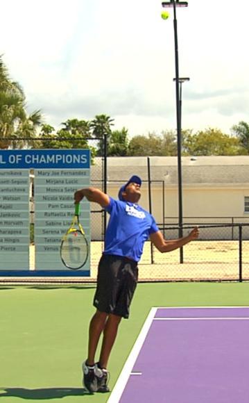 Figure 5.6 Take-back for a serve.