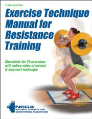 Exercise Technique Manual for Resistance Training Image Bank-3rd Edition