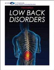 Low Back Disorders Print CE Course-3rd Edition