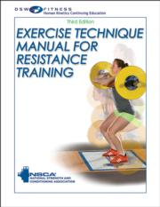 Exercise Technique Manual for Resistance Training Print CE Course-3rd Edition