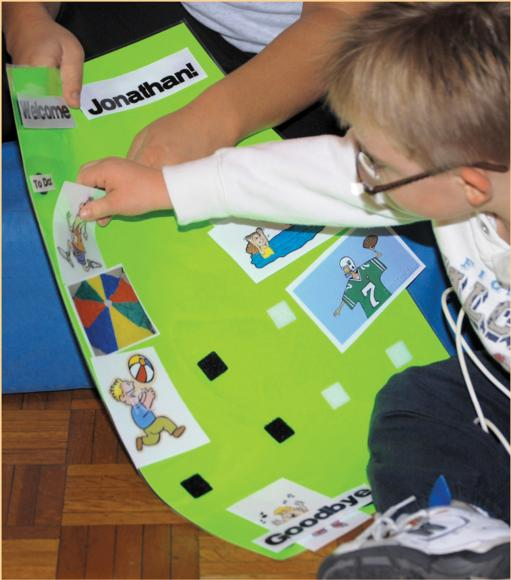 Figure 22.3 Visual schedules help children manage their environments.