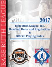 BRL 2017 Baseball Rules and Regulations eBook