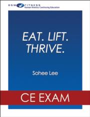Eat.Lift.Thrive. Online CE Exam