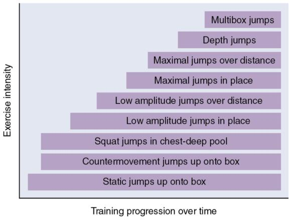Figure 2.2 Sample plyometric progression throughout a training season.