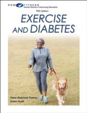 Exercise and Diabetes Print CE Course-5th Edition