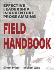 Effective Leadership in Adventure Programming Field Handbook-3rd Edition