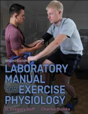 Laboratory Manual for Exercise Physiology 2nd Edition With Web Study Guide
