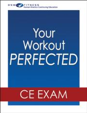 Your Workout PERFECTED Online CE Exam