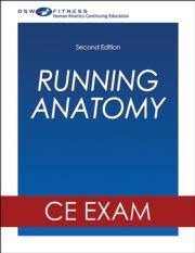 Running Anatomy Online CE Exam-2nd Edition