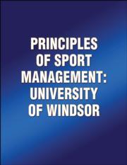 Principles of Sport Management: University of Windsor