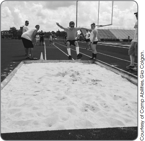 Figure 10.19 A student performs a running long jump.