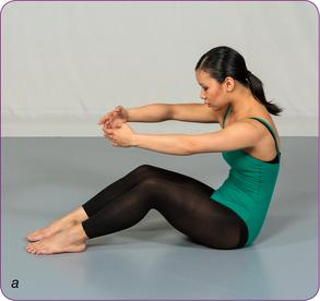 Contraction while seated (a)