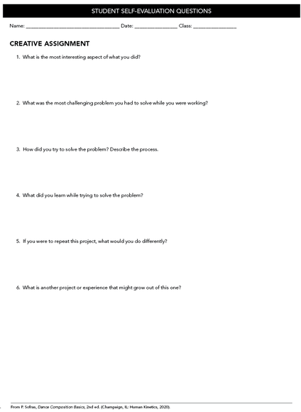 Student Self-Evaluation Questions