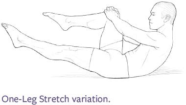 One-Leg Stretch variation