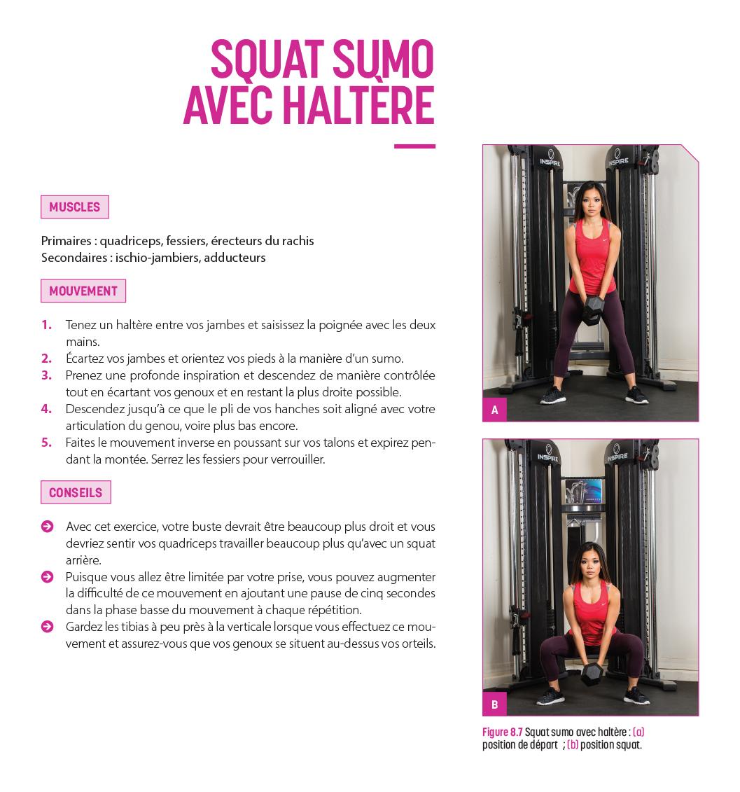 Squat sumo avec haltère